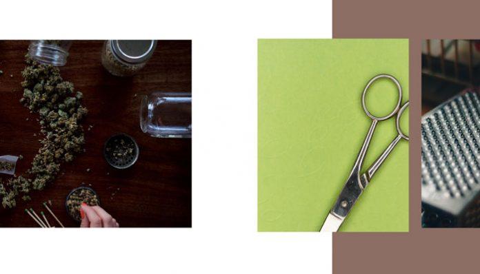 cannabis-grinder-cheese-grater-scissors